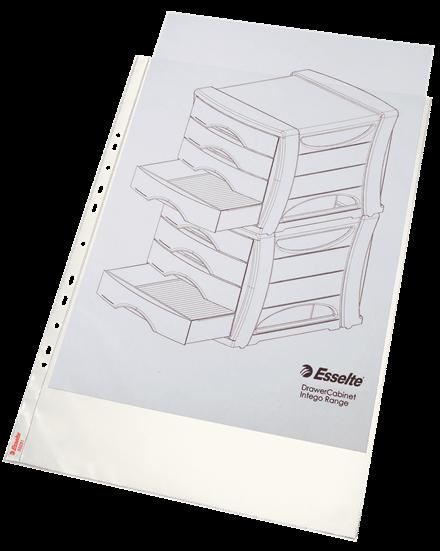 Esselte Collecta Magazine rack file durevole formato A4/rosso rif confezione da 10/pezzi 24650